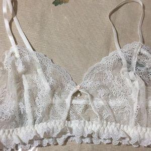 NWT Hanky Panky white lace bralette